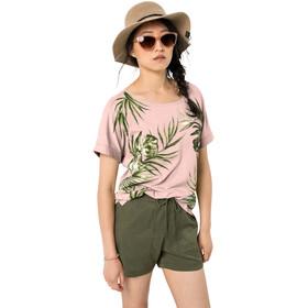 Jack Wolfskin Tropical Leaf Tee Women, blush pink
